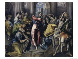 Christ Driving Moneychangers from Temple Lámina giclée por  El Greco