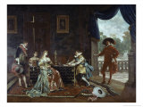 Signing a Marriage Contract at Court of Louis XIV Giclee Print by Adolphe Alexandre Lesrel