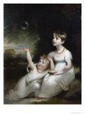 Giorgiana and Anna Waller Giclee Print by Sir William Beechey