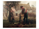 Peasant Grafting a Tree Giclee Print by Jean-François Millet