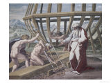 Noah Building the Ark Reproduction proc&#233;d&#233; gicl&#233;e par Raphael 