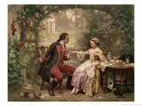 Washington's Courtship Giclee Print by Jean Leon Gerome Ferris