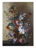 Roses, Carnations, Crown Imperial Lily and Convolvulus Giclee Print by Jacobus Linthorst