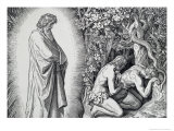 The Birth of Shame Giclee Print by Julius Schnorr von Carolsfeld