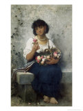 The Rose Seller Giclee Print by Leon Jean Basile Perrault