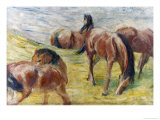 Horses Out to Pasture Giclee Print by Franz Marc