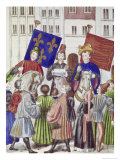 Proclamation of Truce Renewal: France and England Giclee Print by Jean Froissart