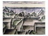 Rooftops in Provincetown, c.1930 Giclee Print by Nancy Ferguson