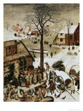 Census at Bethlehem, c.1566 Giclee Print by Pieter Bruegel the Elder