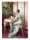 At the Writing Table Giclee Print by Charles Joseph Frederic Soulacroix