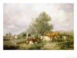 In Canterbury Meadows Giclee Print by Thomas Sidney Cooper