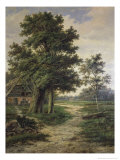 Wooded Landscape Giclee Print by Barend Cornelis Koekkoek