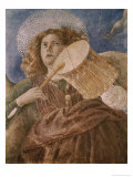 Music Making Angel with Drum Giclee Print by Melozzo da Forl&#237; 
