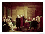 Congress Voting Independence Giclee Print by Robert Edge Pine