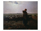 Pasture Giclee Print by Jean-François Millet