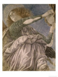 Music Making Angel with Tambourine Giclee Print by Melozzo da Forl&#237; 