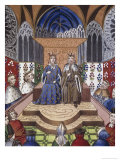 King of France and Emperor of Germany in Conference Giclee Print by Jean Froissart