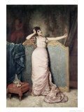 Admiring Herself Premium Giclee Print by Auguste Toulmouche