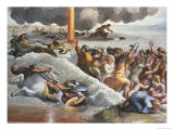 Moses Crossing the Red Sea Giclee Print by  Raphael