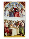 The Coronation of the Virgin Giclee Print by  Raphael