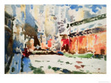 Waterfront, c.1915 Reproduction proc&#233;d&#233; gicl&#233;e par Frank Wagner
