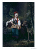 Little Red Riding Hood Giclee Print by Louis Cabaillot Lasalle