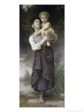 Brother and Sister, c.1887 Giclee Print by William Adolphe Bouguereau