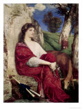 Muse of Music and Lyric Poetry Premium Giclee Print by Arnold Bocklin
