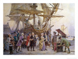 Franklin's Homecoming, c.1785 Giclee Print by Jean Leon Gerome Ferris