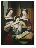 Three Female Musicians Giclee Print