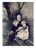 Her Favorite Doll Giclee Print by Gustave Courtois