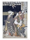 New Year's Kite Flying Giclee Print by Toyokuni Utagawa