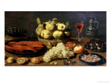 Still Life with Seafood Giclee Print by Jacob Van Es