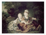 Duc de Berry and Count de Provence as Children Giclee Print by Francois Hubert Drouais