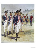Infantry and Musicians Giclee Print by H.a. Ogden
