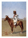 Blackfoot Indian Giclee Print by Frederic Sackrider Remington