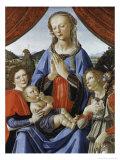 Madonna mit Kind und Heiligen Giclée-Druck von Andrea del Verrocchio
