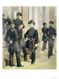 Staff. Field, And, Line Officers Giclee Print by H.a. Ogden