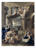 The Adoration of the Shepherds Giclee Print by Nicolas Poussin