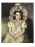 Margot in White Giclee Print by Mary Cassatt