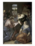 Christ in the House of Mary and Martha Giclee Print by Jacopo Robusti Tintoretto