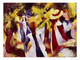 Girls Among Trees Giclee Print by Auguste Macke
