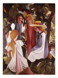 Four Girls Giclee Print by Auguste Macke