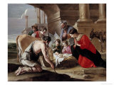 Adoration of the Shepherds Giclee Print by Louis Le Nain