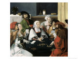 Card Players Giclee Print by Lucas van Leyden
