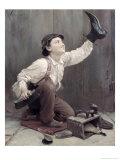 Shoeshine Boy Giclee Print by Karl Witkowski