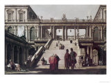 Castle Yard Giclee Print by  Canaletto