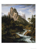 The Wetterhorn Giclee Print by Joseph Anton Koch