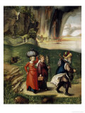 Lot and His Family Fleeing from Sodom Giclee Print by Albrecht Dürer