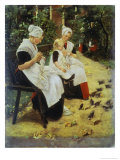 Orphan Girls in the Garden, Amsterdam Giclee Print by Max Liebermann